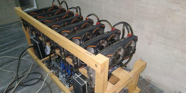Майнинг ферма Риг GIGABYTE GTX1080 8шт.или Asus Gtx1080 8шт