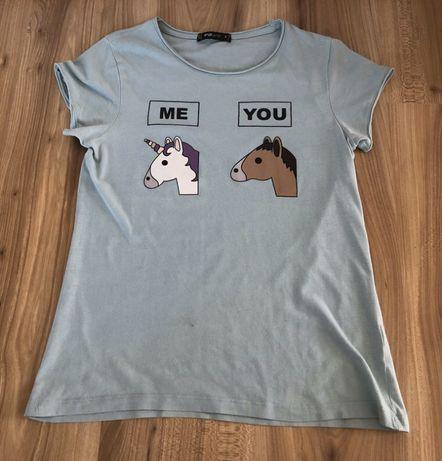 T-shirt, koszulka z krótkim rękawkiem NewYorker jednorożec r. S