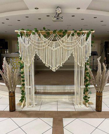 Макраме арка, свадебная арка, весільний декор фотозона