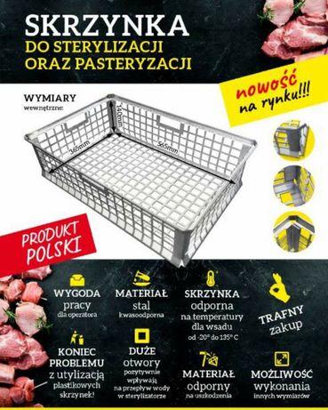 Skrzynka do sterylizacji oraz pasteryzacji mięsa