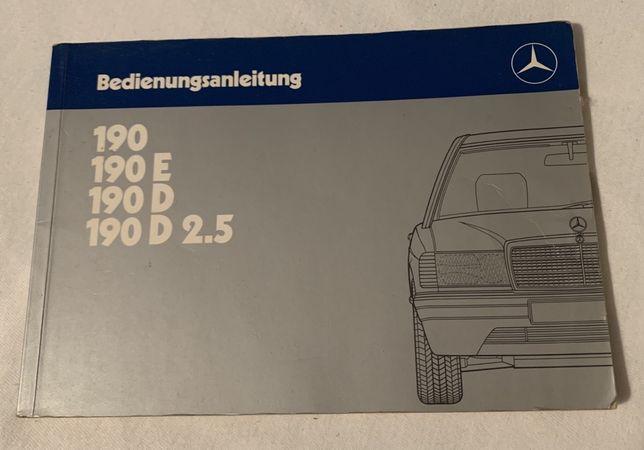 Manual Proprietario Mercedes 190 (Alemao)