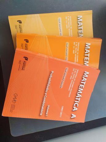 Livros de preparação para exame de Matemática A