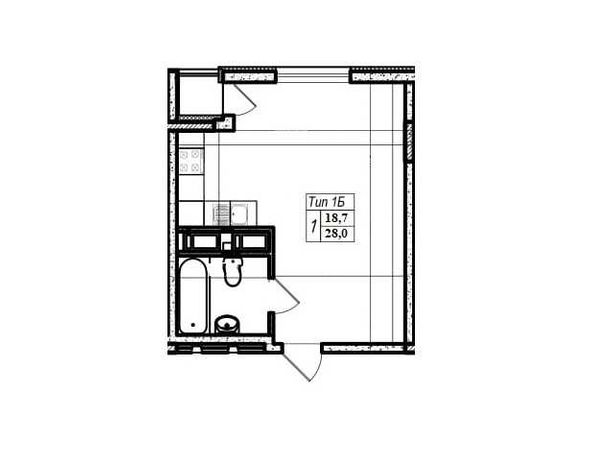 1к смарт квартира 28 м2 ЖК ParkLand (Паркленд), прямая продажа без %