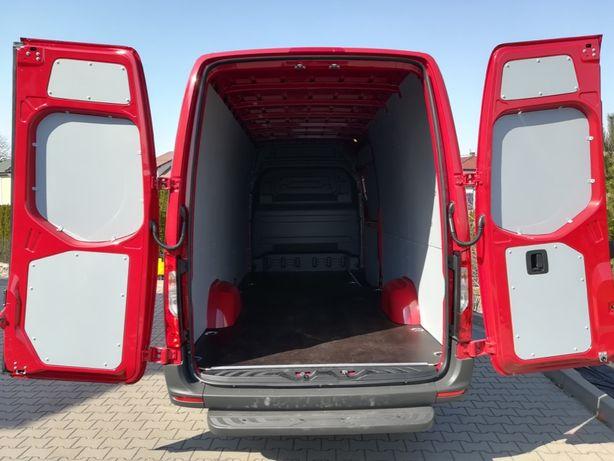 Mercedes Sprinter L3H2, zabudowa busa, podłoga, ściany