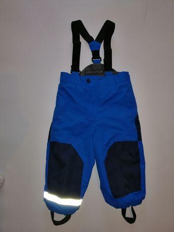 Spodnie HM narciarskie,snowboardowe,zimowe,ocieplene,szelki roz.92/98