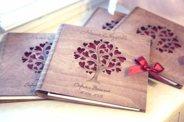 Свадебный фотоальбом из дерева (Эксклюзивно!)