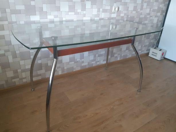 Стіл кухонний скляний