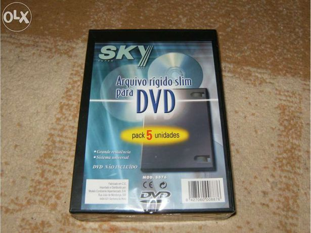 Caixas para dvds ou cds - novo & selado!