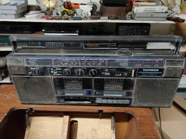 Stary zabytkowy radiomagnetofon telefunken RC 765 T prl antyk