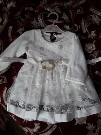 Платье на крестины +-6 мес.