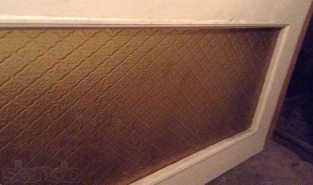 Внутренние двери деревянные двойные с узорчатым стеклом сосна