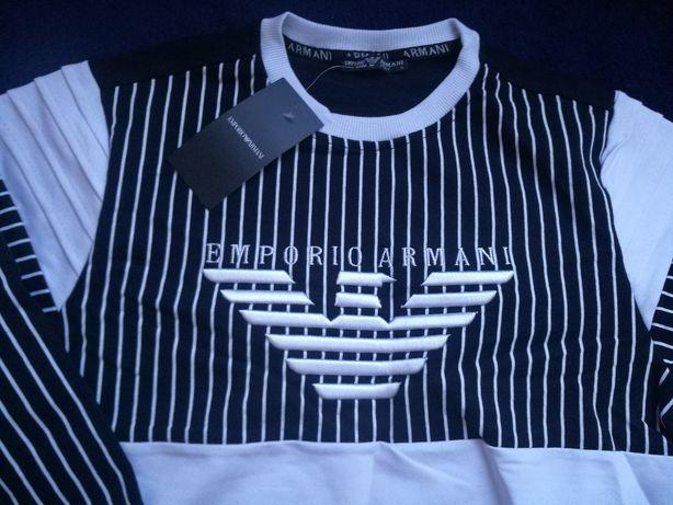 bluza z logo Armani