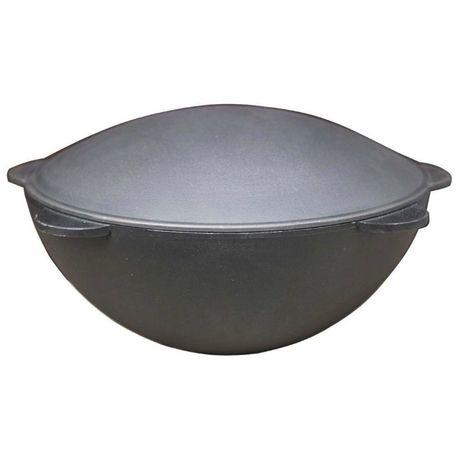 Казан чугунный 13 литров с крышкой (казан чавунний)