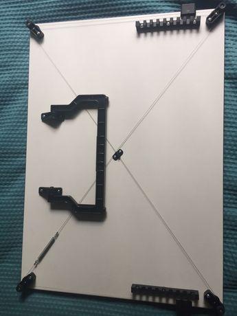 Deska kreślarska że stelażem i przykładnica