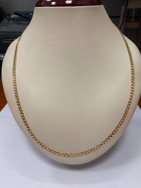 piękny złoty łańcuszek p585 13,81g męska pancerka