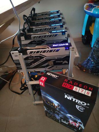 Koparka 6 x RX570 RX580 Eth 180-190 MH/s Sapphire Nitro