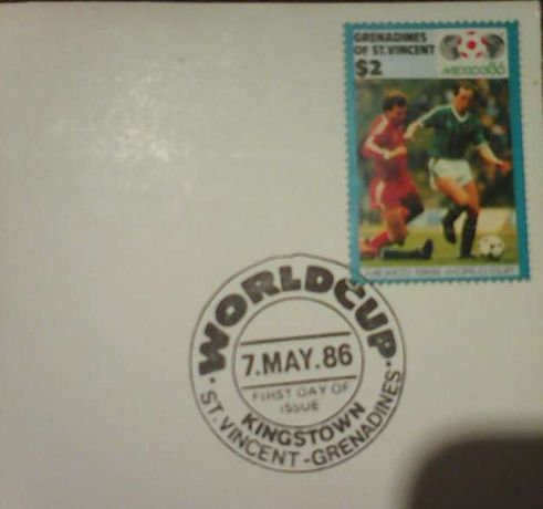 Znaczek FIFA Mexico 1986 World Cup Grenandines OF ST.Vincent N Ireland