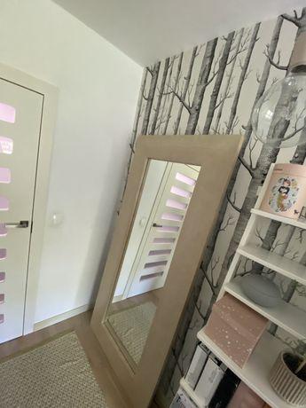 Lustro duze debowe drewniane - 200 x 90 cm - projekt Iwona Kosicka