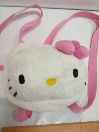 Детская мягкая сумка сумочка клатч через плечо Хелоу Китти Hallo Kitty