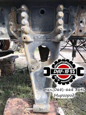 Кронштейн реактивной тяги, полурессоры DAF XF 95, 105. Разборка