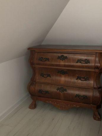Szafka drewniana z giętymi szufladami
