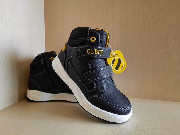 Ботинки демисезонные хайтопы ТМ Clibee 26- 29размер стелька 17-19см