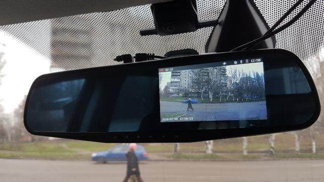 Автомобільне дзеркало відеореєстратор на 2 камери VEHICLE BLACKBOX DVR