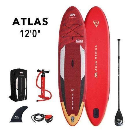Deska SUP Aqua Marina Atlas 12'0″ - Wyporność 390L Zielona Góra.