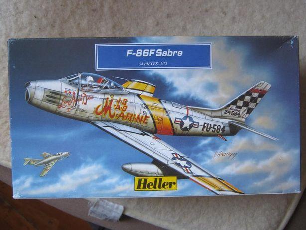 """Сборная пластик. модель американск. истребителя F-86F,,Sabre"""" (Heller)"""