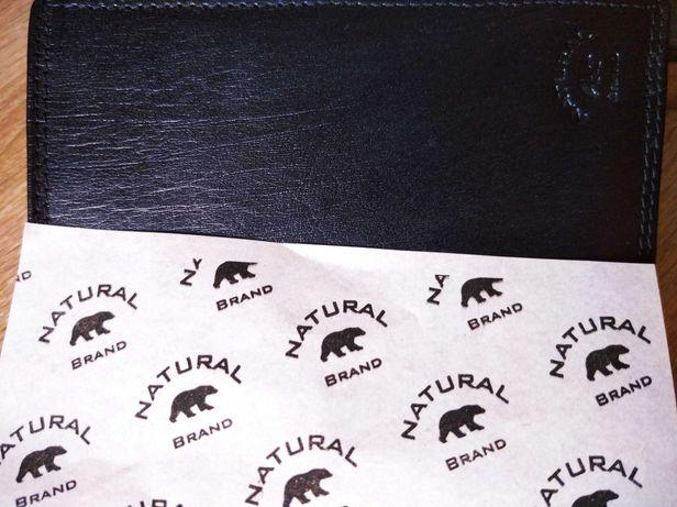 Portfel męski skórzany czarny Natural Brand K-502X Blk Analine .