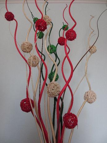 Красивые витые веточки декаданс с плетеными шариками Высота 150см. 5шт