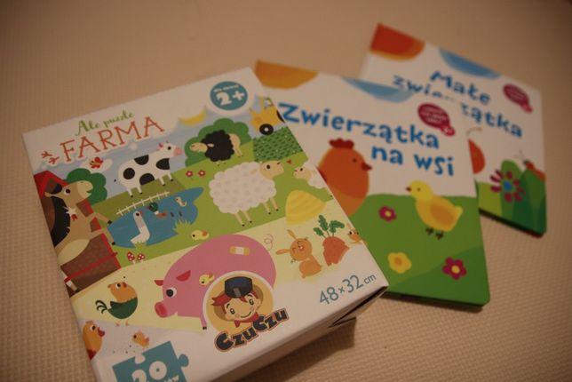 NOWE CzuCzu Ale Puzzle Farma + Zwierzątka na wsi + Małe zwierzątka 2+