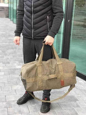 Добротная брезентовая сумка