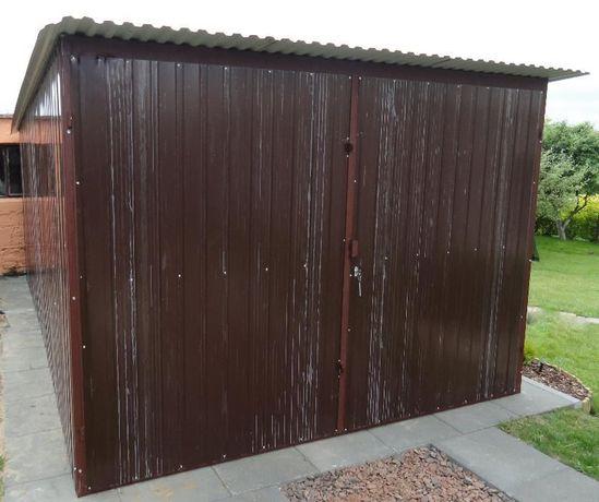 Garaż 3x5 brąz, garaże blaszane, schowki, Transport i Montaż Gratis