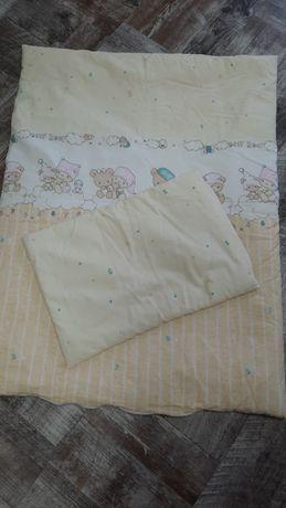Детское одеяло и подушка в детскую кроватку