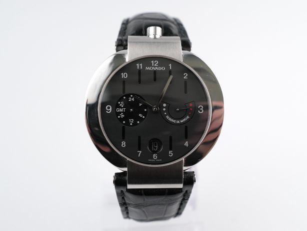 Мужские бу часы Movado Elliptica Power Reserve GMT 40 мм