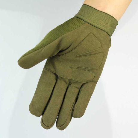 Перчатки тактические полнопалые военные олива черный (+ короткопалые)