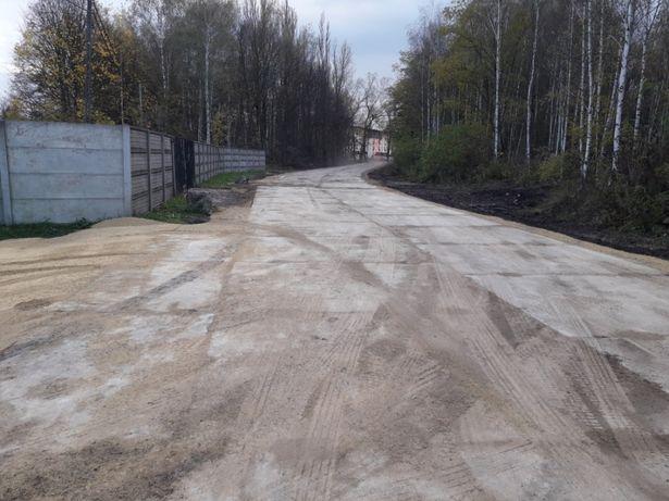 Budowa dróg Układanie Wynajem płyt drogowych, układanie elek elki ścia