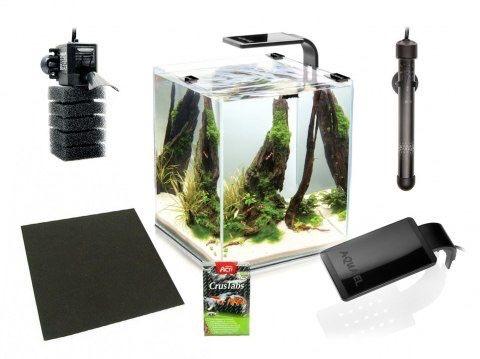 Akwarium 30l aquael + filtr + grzałka + podkladka pod akwarium + lapka