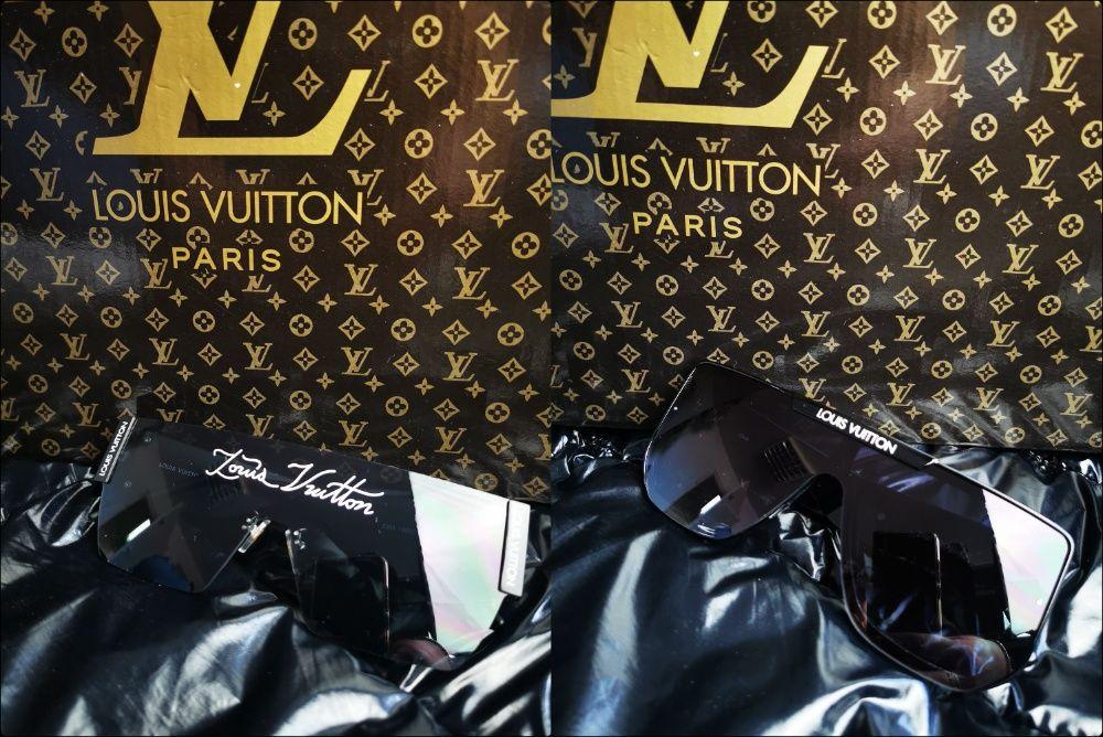Okulary Louis Vuitton srebrne złote logowane hit lato przyciemniane Chełm - image 1