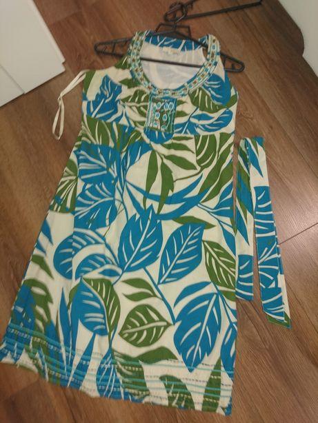 Sukienka na lato motyw: liście