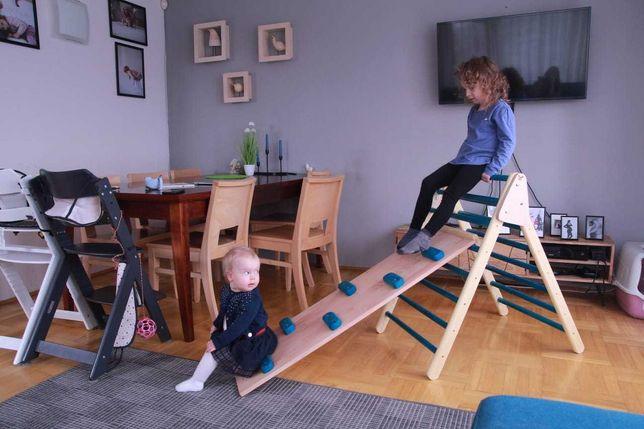 Drabinka ze zjeżdżalnią, pikler, Montessori