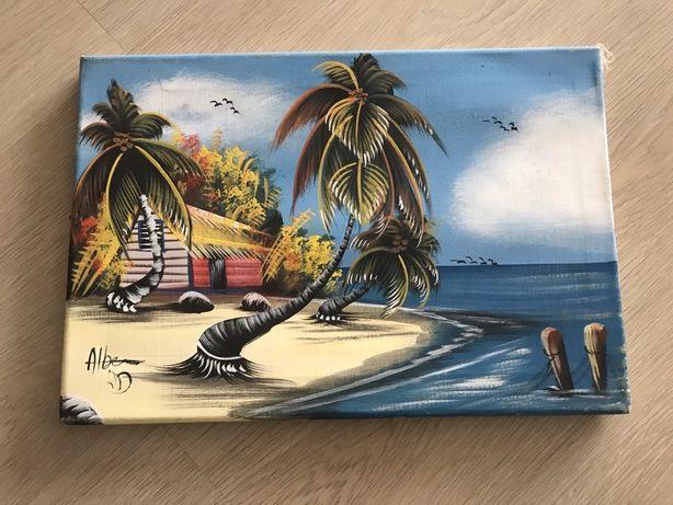 Quadro Cabo Verde pintado á mão