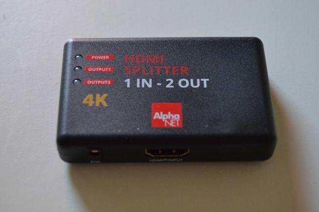 Distribuidor/Splitter HDMI com amplificador de sinal
