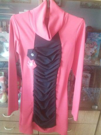 Красивое эффектное платье красное черное коралловое