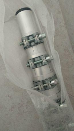 Mastro telescópico de alumínio 11,7 metros/2 metros com base.
