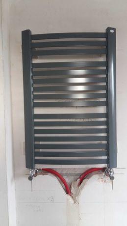 Grzejnik łazienkowy 50x80 luxor szary siwy antracytowy