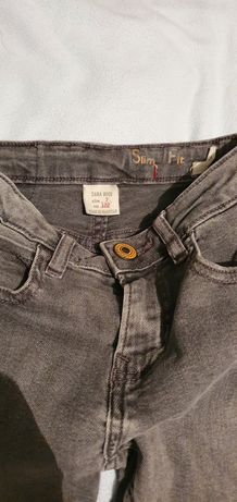 Spodnie chłopiec jeansowe jeans. Zara 7 lat 122 cm. Stan idealny.