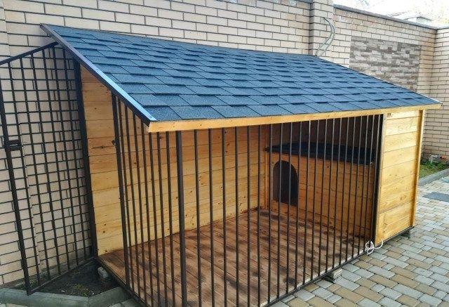 Вольер будка для большой собаки