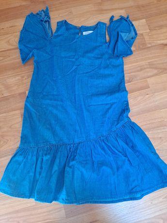 Vestido de ganga leve Zara tam. 8 anos